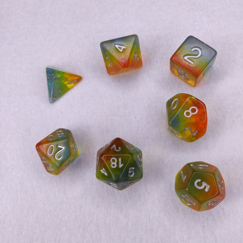 Dice Set - Pastel Rainbow