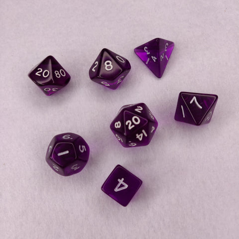 Dice Set - Purple Gem