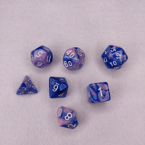 Dice Set - Elemental Pink and Blue