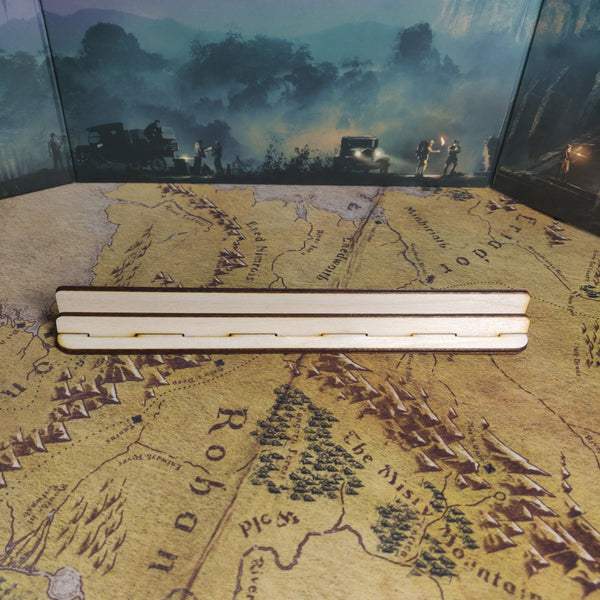 Board Game Card Holder, Playing Card Holder, Card Rail, Wooden Shelf for Holding Cards, Card Rail for Wingspan, Gloomhaven, Ticket to Ride, Catan