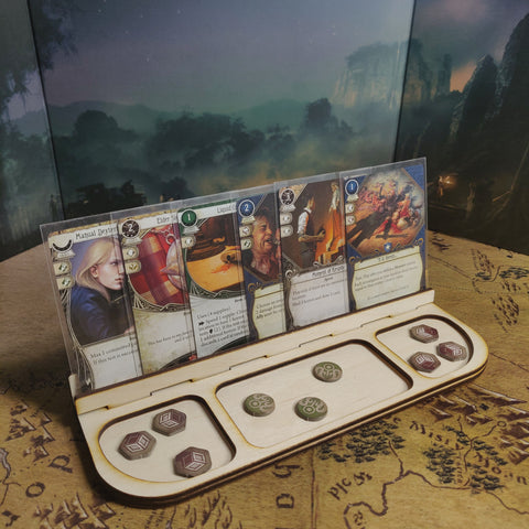 Tabletop Gaming Card Rail, Card Holder, Component Tray, Card Organiser, Gaming Aid, Board Gam Card Holder, Board Game Token Tray
