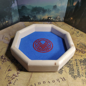 Octagon Wooden Dice Tray - Cthulhu Design