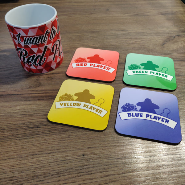 Coaster - Board Gamer Player Mug Coaster