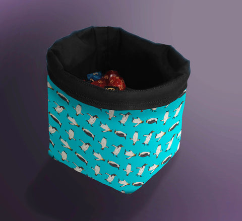 Printed Dice Bag- Penguin Dice Bag