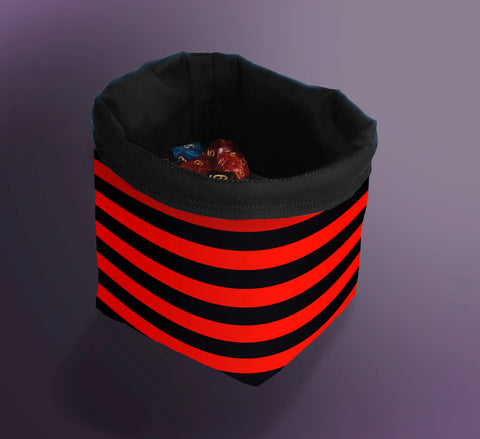 Printed Dice Bag- Red Striped Bag