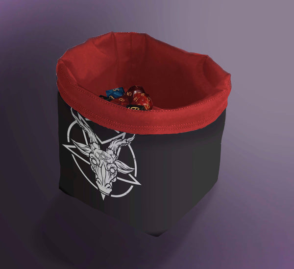 Printed Dice Bag-  Satan's Head Bag