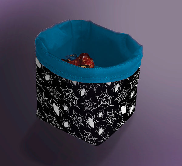 Printed Dice Bag- Spiderwebs