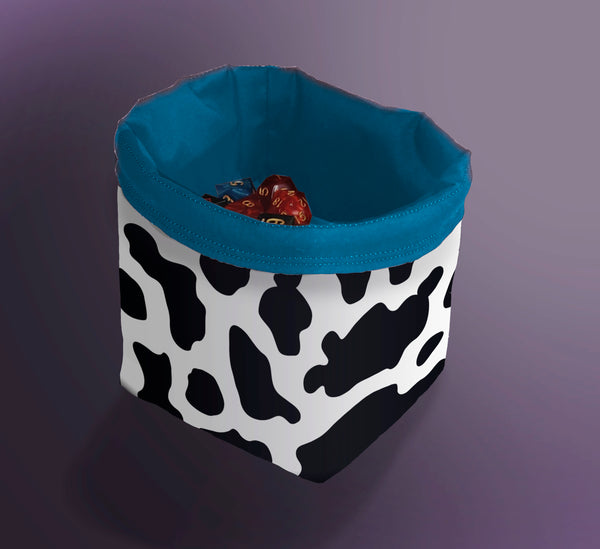 Printed Dice Bag- Cow Print Bag