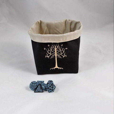 Embroidered Dice Bag, Board Game Gift, D&D Gift, Dice Storage Bag, Tabletop Gaming Bag, Freestanding Dice Bag