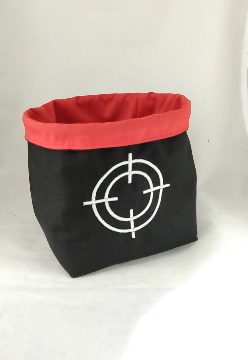 Bolt Action Dice Bag, Crosshairs Dice Bag, Bolt Action Storage Bag, Wargaming Dice Bag, Warhammer Dice Bag
