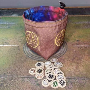 Printed Token Bag-  Eldritch Horror / Arkham Horror Themed Token Bag