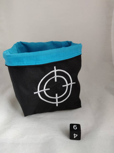 Embroidered Dice Bag- Crosshair Dice Bag, Bag for Bolt Action