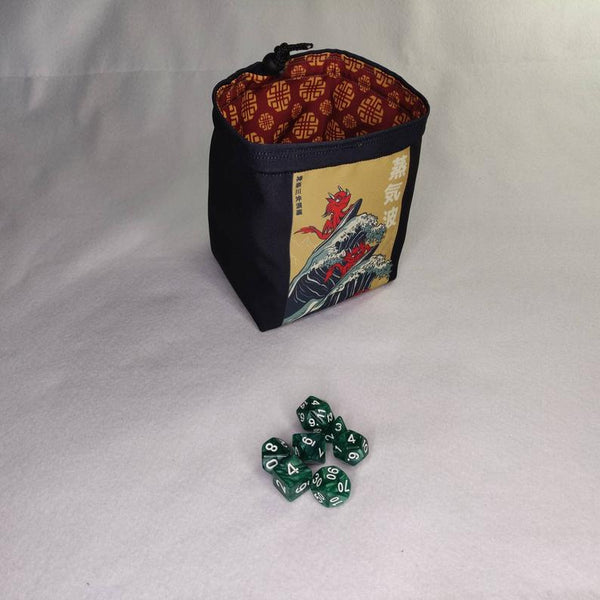 Printed Dice Bag-  Lucky Dragon Bag of Holding