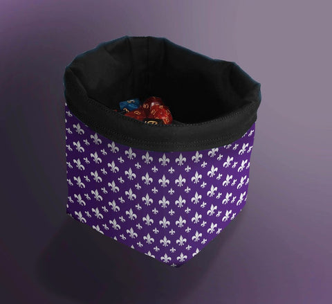 Printed Dice Bag- Fleur de Lis Dice Bag