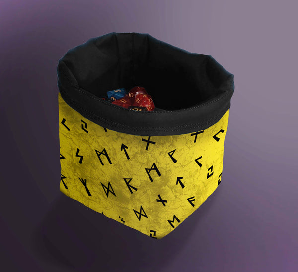 Printed Dice Bag- Dwarven Rune Dice Bag