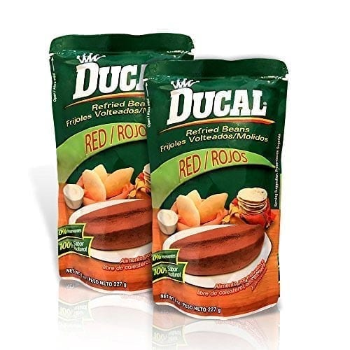 Ducal red refried Beans doypack 14 oz.