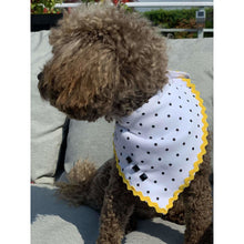 Load image into Gallery viewer, White Polka Dog Bandana
