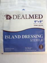 "Load image into Gallery viewer, 4 DealMed 6""x6"" Sterile Island Dressings"
