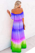 Load image into Gallery viewer, Chic Off The-Shoulder Tiered Maxi Dress