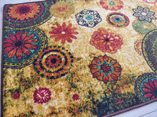 Load image into Gallery viewer, Chakra 2 Style (Golden) Polyester Area Rug Anti-Slip Small Carpet /