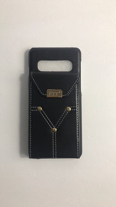 FYY Black Cowhide Phone Case