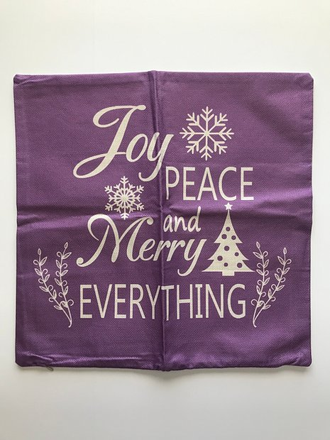 Joy Peace and Merry Everything Decorative Pillow Cover