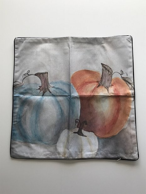 Three Pumpkins Pillow Cover