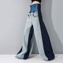Load image into Gallery viewer, Maaya High Waist Denim Wide Leg Pants