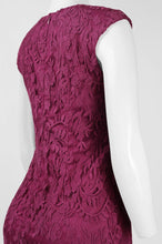 Load image into Gallery viewer, Adrianna Papell Day Split V-Neck Cap Sleeve Pleated Waist Floral Lace