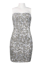 Load image into Gallery viewer, Adrianna Papell Strapless Beaded Dress Petite