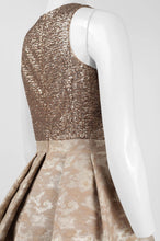 Load image into Gallery viewer, Aidan by Aidan Mattox Crew Neck Sleeveless Sequined Bodice Pleated