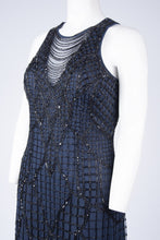 Load image into Gallery viewer, Aidan Mattox Fringe Beaded Cocktail Dress