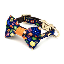 Load image into Gallery viewer, Floral Dog Collar & Bow Tie Set