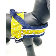 Load image into Gallery viewer, Mustard Honeycomb Denim Dog Harness