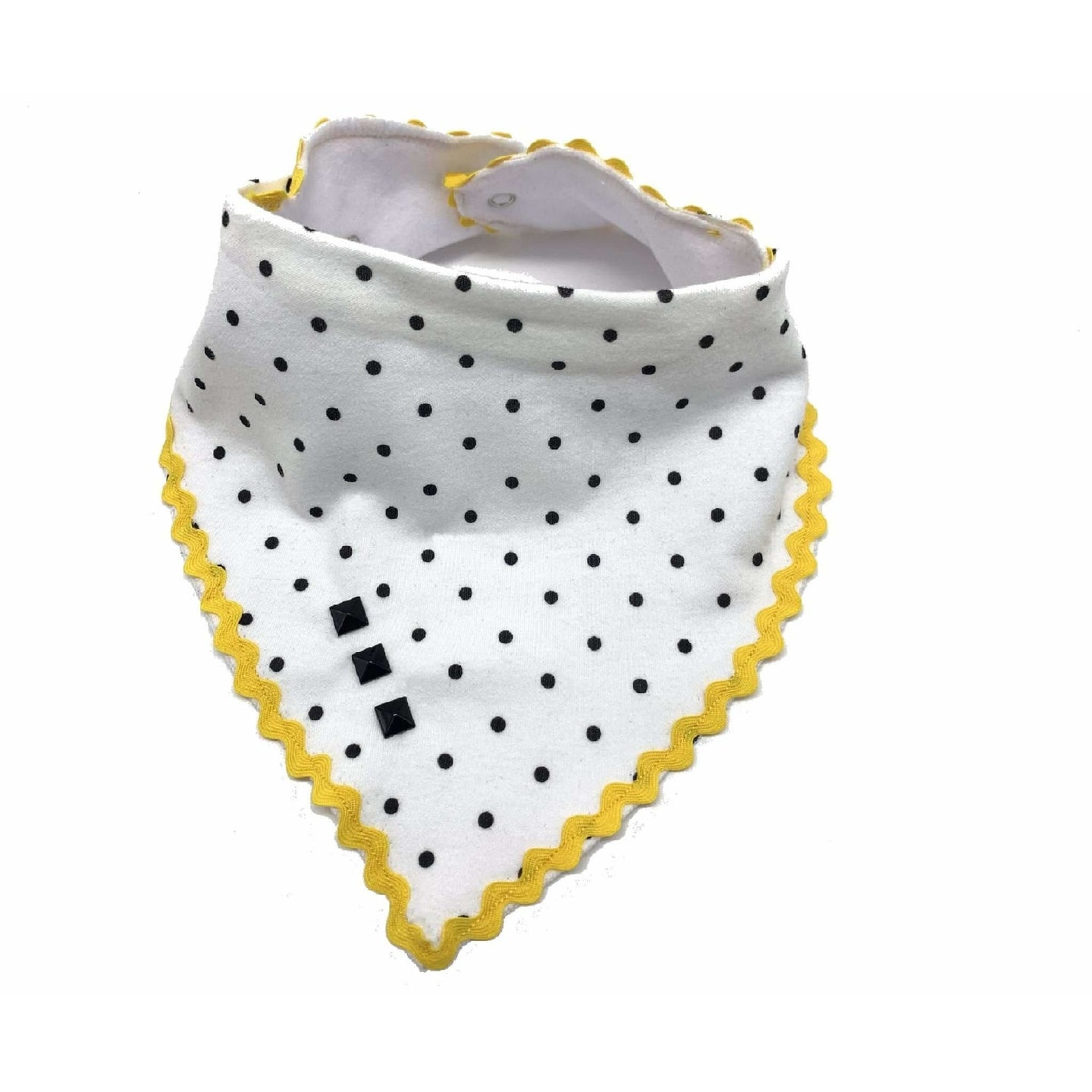 White Polka Dog Bandana