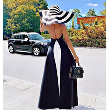 Load image into Gallery viewer, White & Black Patchwork Draped Dress
