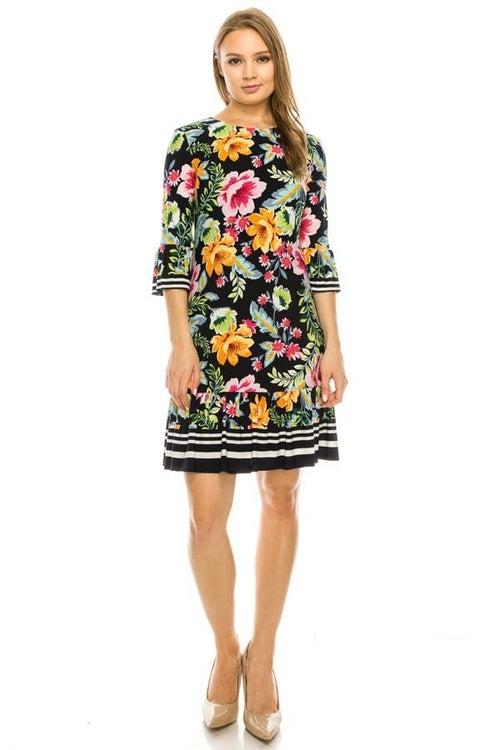 Eliza J Navy Floral Dress