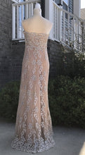 Load image into Gallery viewer, Unique Couture Strapless Evening Gown Size 6