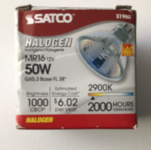 Load image into Gallery viewer, Satco 50W Halogen MR16 12V