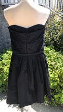 Load image into Gallery viewer, White House Black Market Black Strapless Dress Size 6