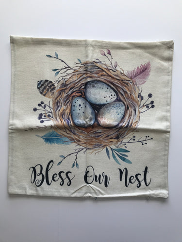 Bless Our Nest Decorative Pillow Cover