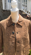 Load image into Gallery viewer, Size Small Live A Little Leather Leopard Print Jacket