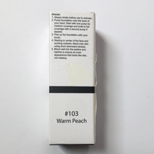 Load image into Gallery viewer, Phoera Full Coverage Foundation #103 Warm Peach