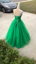 Load image into Gallery viewer, Size 7-8 Mori Lee Green Ball Gown
