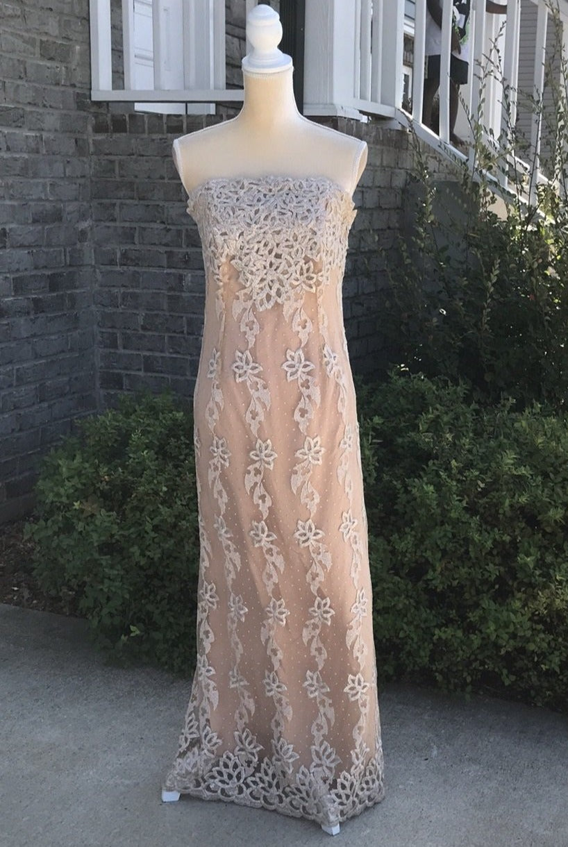 Unique Couture Strapless Evening Gown Size 6