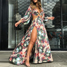 Load image into Gallery viewer, Women Sexy Floral Dress Party Dress