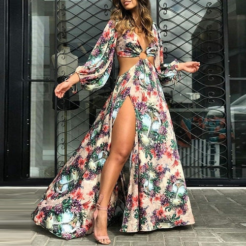 Women Sexy Floral Dress Party Dress
