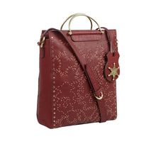Load image into Gallery viewer, Wild Rose 01 Leather Satchel (Red)