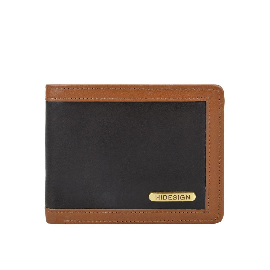 342-017 Leather Wallet (Black/Tan)