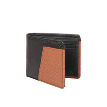 Load image into Gallery viewer, 364-L103 Bi-Fold Wallet (Black/Tan)